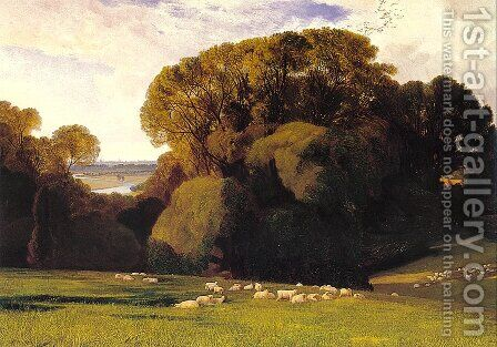 Nuneham  1860 by Edward Lear - Reproduction Oil Painting