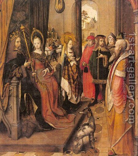 St. Ursula Announces her Pilgrimage to the Court of her Father by Master of the Legend of St. Ursula - Reproduction Oil Painting