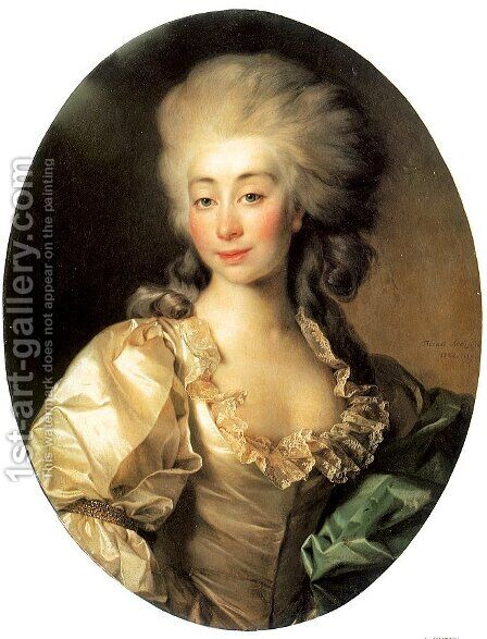 Portrait of Duchess Ursula Mniszek  1782 by Dmitry Levitsky - Reproduction Oil Painting