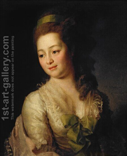 Portrait of Maria Dyakova  1778 by Dmitry Levitsky - Reproduction Oil Painting