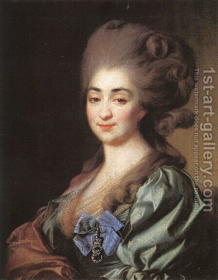 Portrait of Princess Praskovia Repnina  1781 by Dmitry Levitsky - Reproduction Oil Painting