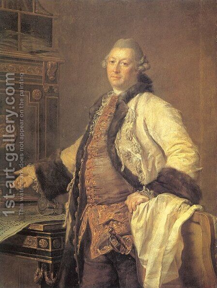 The Architect Alexander Kokorinov, Director and First Rector of the Academy of Arts  1769 by Dmitry Levitsky - Reproduction Oil Painting