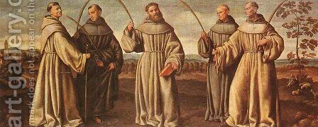Franciscan Martyrs 1524 by Bernardino Licinio - Reproduction Oil Painting
