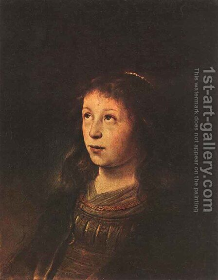 Portrait of a Girl 1630-35 by Jan Lievens - Reproduction Oil Painting