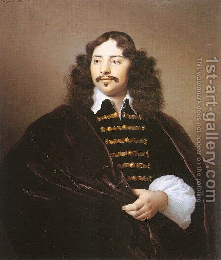 Portrait of Martijn Gaertz  1656 by Isaac Luttichuys - Reproduction Oil Painting