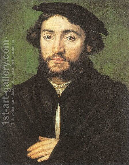 Pierre Aymeric  1534 by Corneille De Lyon - Reproduction Oil Painting