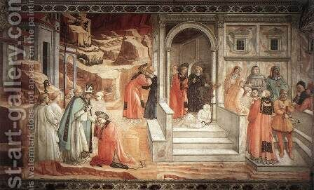 Disputation in the Synagogue 1452-65 by Fra Filippo Lippi - Reproduction Oil Painting