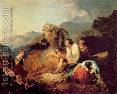 The Discovery of the Potato Blight by Daniel MacDonald - Reproduction Oil Painting