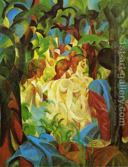 GIRLS by August Macke - Reproduction Oil Painting