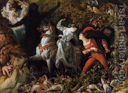 "A Scene from ""Undine"" 1843 by Daniel Maclise - Reproduction Oil Painting"