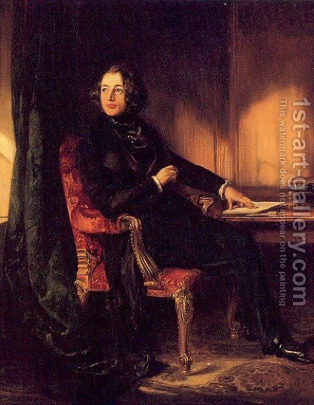 Charles Dickens 1839 by Daniel Maclise - Reproduction Oil Painting