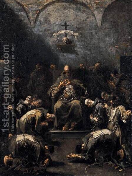 Prayer of the Penitent Monks by Alessandro Magnasco - Reproduction Oil Painting