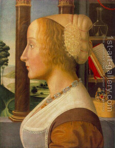Portrait of a Woman by Bastiano Mainardi - Reproduction Oil Painting