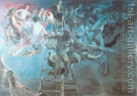 Vicious Circle 1895-97 by Jacek Malczewski - Reproduction Oil Painting