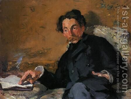 Portrait of Stephane Mallarme 1876 by Edouard Manet - Reproduction Oil Painting