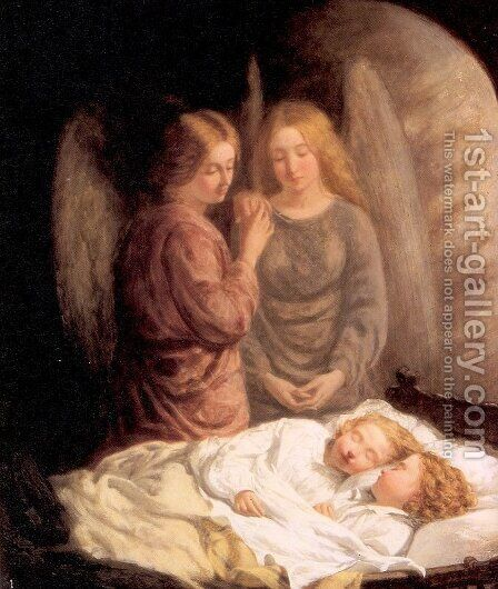 Guardian Angels  1860 by J.H.S Mann - Reproduction Oil Painting
