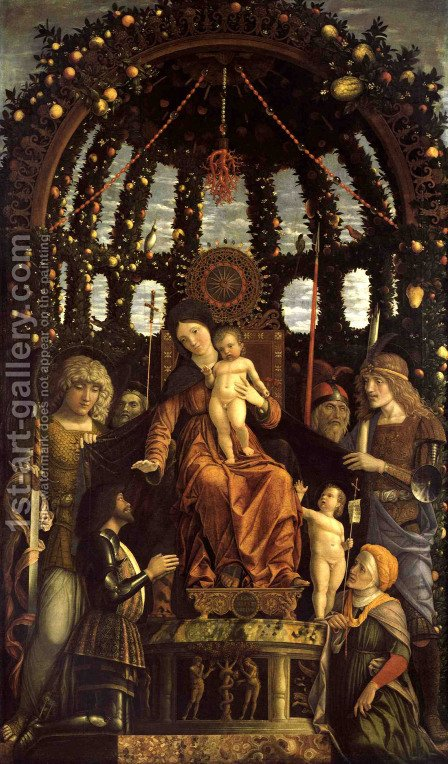 Madonna of Victory 1496 by Andrea Mantegna - Reproduction Oil Painting