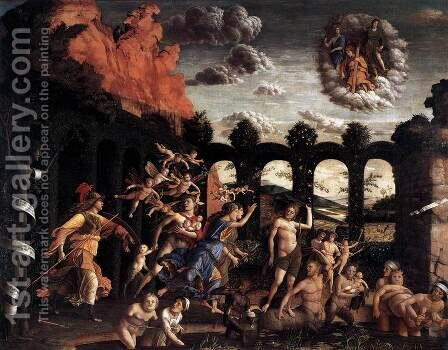 Pallas Expelling the Vices from the Garden of Virtue 1499-1502 by Andrea Mantegna - Reproduction Oil Painting