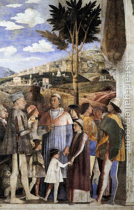 The Meeting 1471-74 by Andrea Mantegna - Reproduction Oil Painting