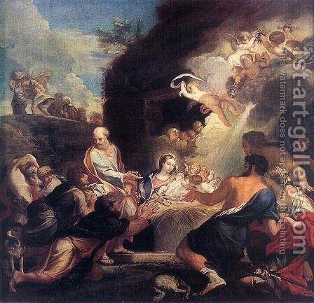 Adoration of the Shepherds 1690s by Carlo Maratti - Reproduction Oil Painting