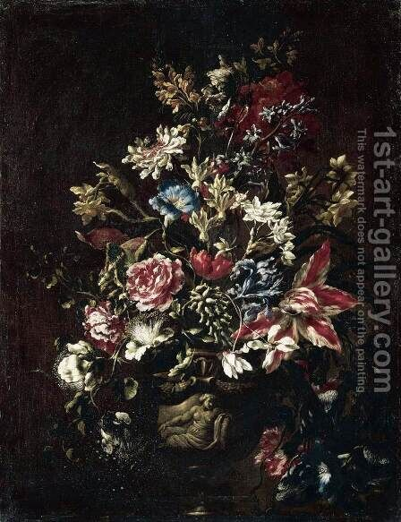 Flower Still-Life by Mario Dei Fiore - Reproduction Oil Painting