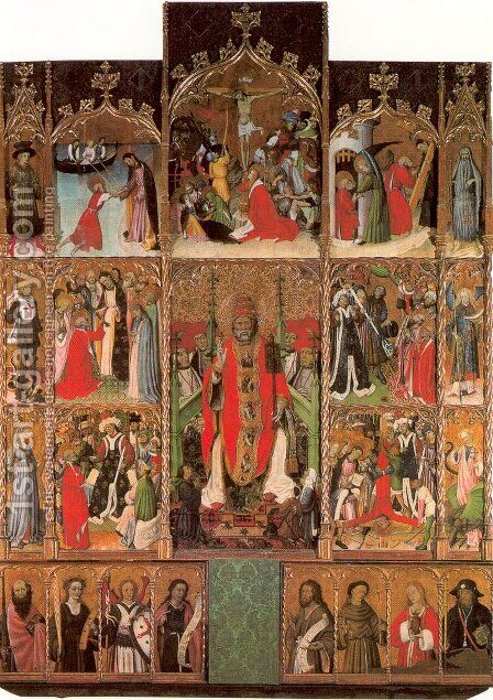Saint Peter Altar 1437-1442 by Bernat (Bernardo) Martorell - Reproduction Oil Painting
