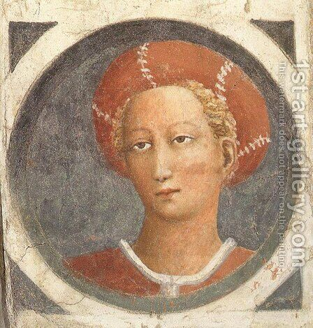 Medallion 1426-27 by Masaccio (Tommaso di Giovanni) - Reproduction Oil Painting