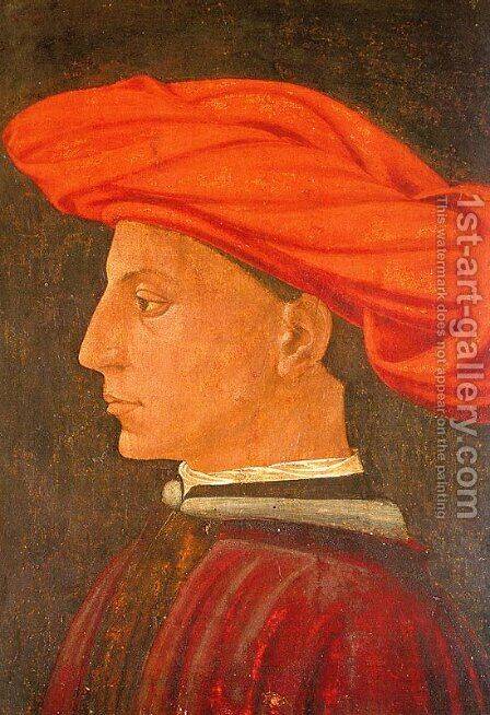 Portrait of a Young Man  1423-25 by Masaccio (Tommaso di Giovanni) - Reproduction Oil Painting