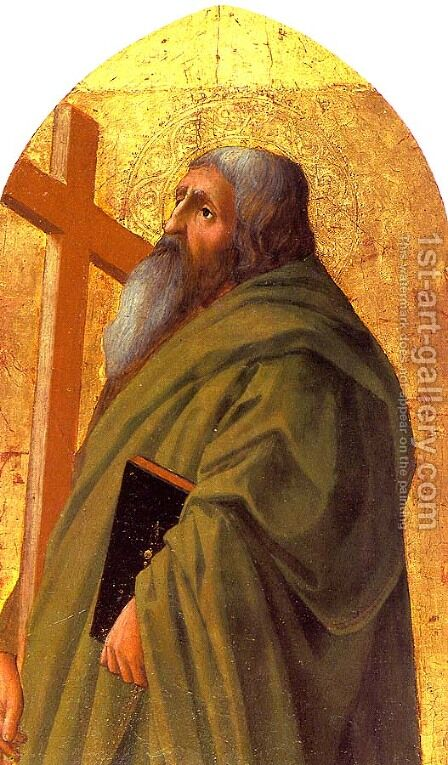 St. Andrew  1426 by Masaccio (Tommaso di Giovanni) - Reproduction Oil Painting