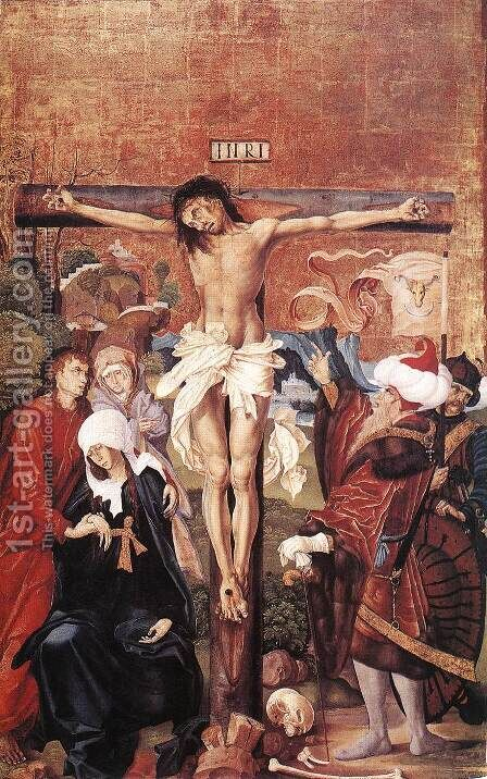The Crucifixion 1506 by Master M.S. - Reproduction Oil Painting