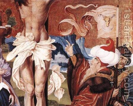 The Crucifixion (detail-1)  1506 by Master M.S. - Reproduction Oil Painting