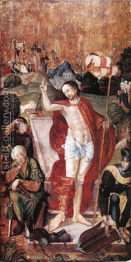 The Resurrection 1506 by Master M.S. - Reproduction Oil Painting