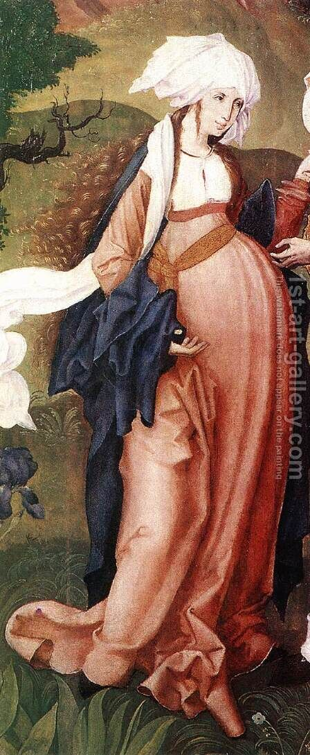 The Visitation (detail-1)  1506 by Master M.S. - Reproduction Oil Painting