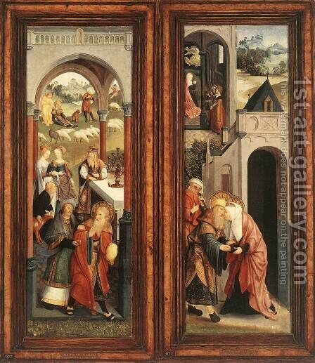 Scenes from the Life of Joachim and Anna c. 1500 by Master of Alkmaar - Reproduction Oil Painting