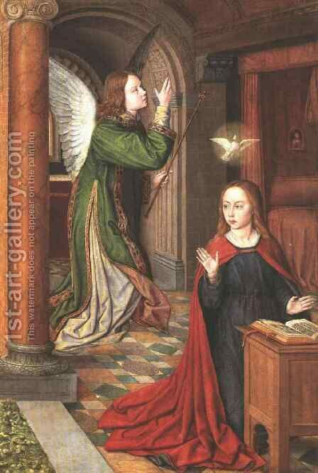 The Annunciation 1500 by Master of Moulins  (Jean Hey) - Reproduction Oil Painting