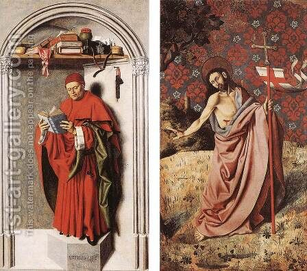 Prophet Jeremiah and Christ 1443-45 by Master of the Aix Annunciation - Reproduction Oil Painting