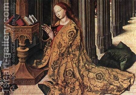 The Annunciation (detail) 1445 by Master of the Aix Annunciation - Reproduction Oil Painting