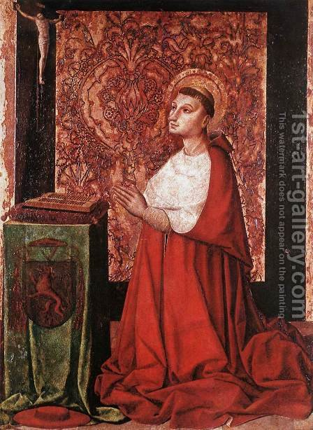 Vision of Peter of Luxembourg c. 1450 by Anonymous Artist - Reproduction Oil Painting
