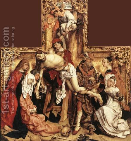 The Descent from the Cross 1500-05 by Master of the St. Bartholomew Altarpiece - Reproduction Oil Painting