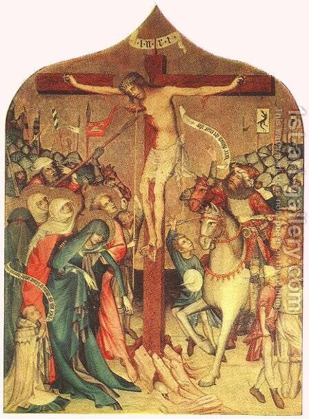 Crucifixion 1427 by Master Thomas de Coloswar - Reproduction Oil Painting
