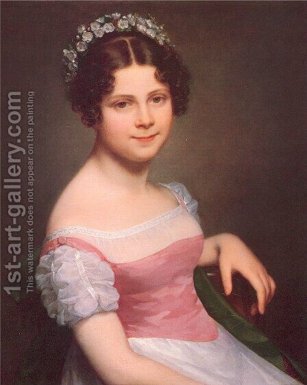 Sophie Fanny Lordon 1820 by Marie-Constance Mayer - Reproduction Oil Painting