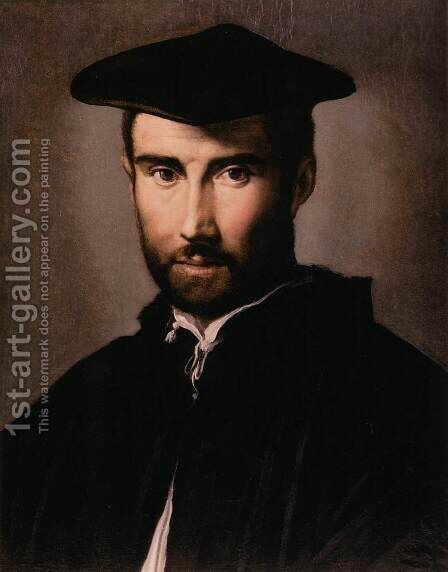 Portrait of a Man 1528-30 by Girolamo Francesco Maria Mazzola (Parmigianino) - Reproduction Oil Painting