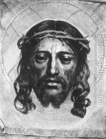 Face of Christ 1649 by Claude Mellan - Reproduction Oil Painting