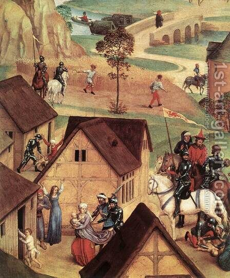 Advent and Triumph of Christ (detail-1) 1480 by Hans Memling - Reproduction Oil Painting