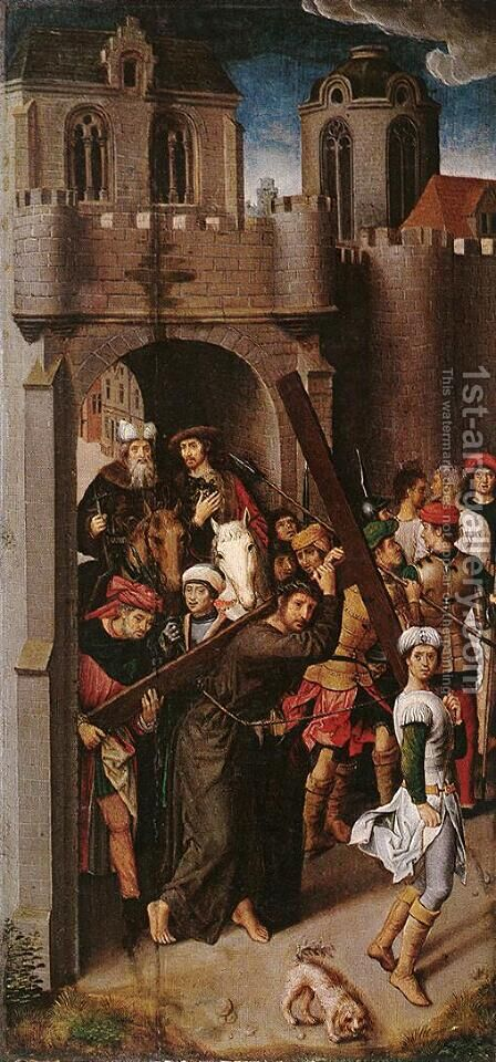 Carrying the Cross by Hans Memling - Reproduction Oil Painting