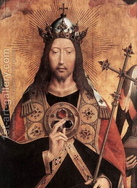 Christ Surrounded by Musician Angels (detail) 1480s by Hans Memling - Reproduction Oil Painting