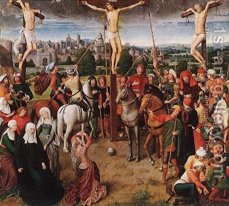Crucifixion by Hans Memling - Reproduction Oil Painting