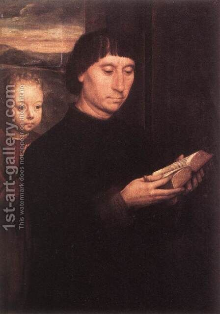 Donor (1) c. 1490 by Hans Memling - Reproduction Oil Painting