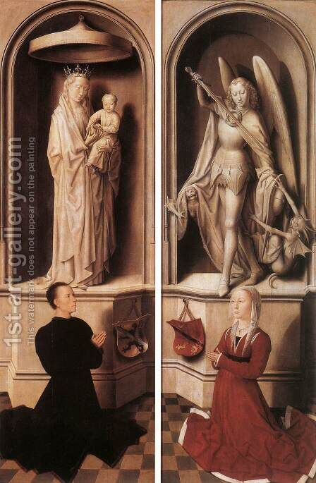 Last Judgment Triptych (closed) 1467-71 by Hans Memling - Reproduction Oil Painting