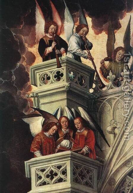 Last Judgment Triptych (detail-2) 1467-71 by Hans Memling - Reproduction Oil Painting